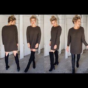 Olive Green Sadie and Sage Sweater Dress